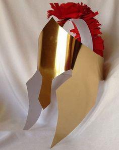 Casco de gladiador fácil de cartulina