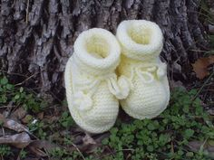 Baby booties knitted baby shoes baby knitted slippers by SunNel, €10.00