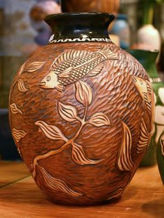 Under the Sea | FoxLo Pottery | April 2014 Fish Exhibition | Amphora Gallery | Cambria, CA