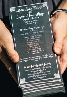 one page wedding programs