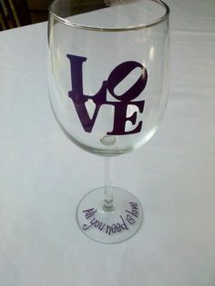 All you need is love wedding wine glasses Love by WaterfallDesigns,