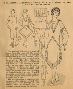 The Midvale Cottage Post: Home Sewing Tips from the 1920s - Updating a House Dress to an Afternoon Frock