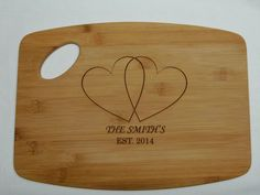 Personalized Cutting Board, Personalized Wedding Gift, Custom Engraved Bamboo Cutting Boards, Wedding Gifts, Housewarming Gifts
