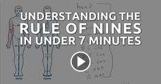 Understanding The Rule Of Nines In Under 7 Minutes ---- Emergency Medical Counsel break down the rule of nines in a way that is simple and easy to understand. Check out the practice problems in the video as well!