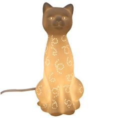 Do want!!!!   Cat Porcelain Lamp, $35, now featured on Fab.