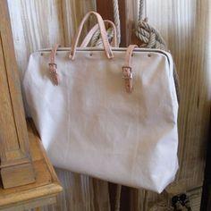bell'occhio - canvas tool bag : plain / junior / leather-bottom
