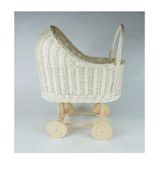 Wiklibox wicker & alder wood doll stroller in ECRU ( creamy) colour. Baby walker by WIKLIBOX on Etsy Dolls Prams, Bassinet, Wicker, Little Girls, Etsy, Wood, Handmade Gifts, Polish, Colour