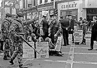 Wives & girlfriends of Maidstone IRA internees protest Belfast city centre April 1972 | Victor Patterson