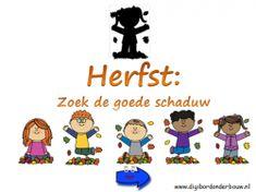Digibordles herfst: zoek de goede schaduw. www.digibordonderbouw.nl