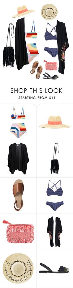 """Summer set"" by audrey-balt ❤ liked on Polyvore featuring Lanvin, Kinross, Yves Saint Laurent, Pieces, Lisa Marie Fernandez, Betsey Johnson and Tory Burch"