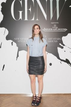Moore wears vintage at an exclusive event hosted by Stefano Tonchi to celebrate the inaugural Generation W issue, in partnership with Jaeger-LeCoultre.