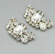 2Pcs Gold Tone Rhinestone Crystal Shoes Wedding Shoe Clips #Flower Crystal Shoes, Crystal Rhinestone, Shoe Clips, Designer Shoes, Crystals, Crystals Minerals, Crystal