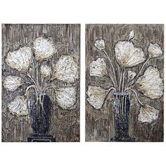"""Uttermost Clear Water Stems 2-Piece 47"""" High Wall Art Set - #1Y144 