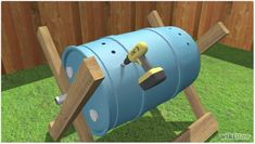 How to Build a Tumbling Composter. One of the keys to successful composting is aeration. Bacteria need oxygen to carry out the aerobic respiration that creates a rich compost. One way to aerate your compost is with a pitchfork or a. Diy Garden Projects, Garden Crafts, Outdoor Projects, Outdoor Decor, Garden Tips, Garden Ideas, Compost Soil, Garden Compost, Gardening