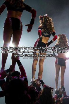 Cheerleading Confessions For the duration of the original levels regarding cheerleading the adventure was only Cute Cheer Quotes, Cheer Qoutes, Cheerleading Quotes, Competitive Cheerleading, Cheerleading Videos, Cheerleading Tryouts, Cheer Funny, Cheer Coaches, Cheer Stunts