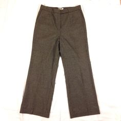 """90s Talbots Tweed Trousers Beautiful vintage 90s stretch wool blend tweed wide leg pants! Fully lined in silky fabric. Tab waist closure & side pockets. Waist:32"""". Hips:46"""". Inseam:28.5"""". Leg width at hem:10.5"""". Great condition. No signs of wear. Classic & warm for winter!  Vintage Pants Trousers"""