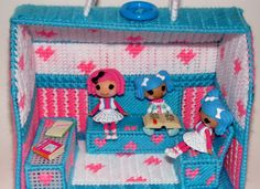 pink and blue cottage by TagAlongToyZ on Etsy