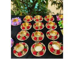 Diya Decoration Ideas, Diwali Diya, T Lights, Candle Holders, Candles, Tea, Floral, Handmade, Hand Made