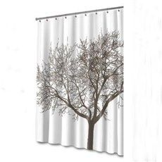 Hot Selling Graceful Tree Print Polyester Shower Curtain