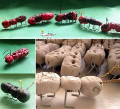 manualidades hormigas Ants, Stuffed Mushrooms, Vegetables, Club, Google, Animals, Infant Crafts, Crafts For Kids, White Clay