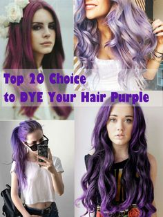 Top 20 Choices to DYE Your Hair Purple,new purple hair dye choice, hair dye, hair color, purple hair color