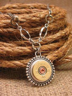 Bullet Jewelry  Shotgun Casing Jewelry  20g Medallion by thekeyofa, $42.00