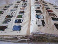 """Veronique Lafont fabric artists book - """"Recevez 1000 Baisers, Effleurez 1000…"""