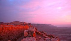 Sunrise over ancient ruins in eastern Israel... #sunrise #nature