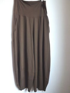 OSKA LADIES TROUSERS Khaki Jersey Stretch Fabric Loose Fit Size 16 - 20  #Oska #Loosefitballoonstyle