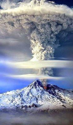 •°¤*(¯`°(b)(Mount Ararat eruption, Italy )(b)°´¯)*¤°•