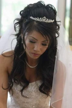 Wedding Hairstyles with Veil for Long Hair