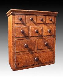 Case of Drawers dated 1873 from Don Olson - American Antiques and Folk Art ~ www.donolsonantiques.com