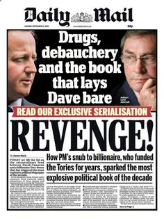 Lord Ashcroft Makes Claims Of Drugs, Debauchery And Bizarre Rituals In David Cameron Biography