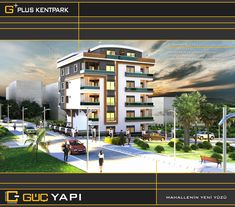 G PLUS KENTPARK EXTERİOR FACADE DESİGN İNTERİOR ARCHİTECTURE GRAPHİC DESİGN PROJECT DESİGN