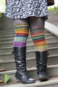 Knit socks: Surprise stripes pattern by Anna Johanna