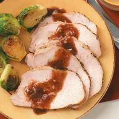 Pork Roast with Plum Sauce