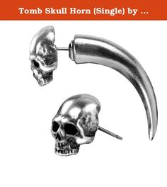 Tomb Skull Horn (Single) by Alchemy Gothic, England. Faux Ear Stretcher Items sold by us (Alchemy of England) are guaranteed to be genuine Alchemy England products and sold with an Alchemy England Product Warranty.
