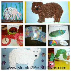 Lots of Eric Carle book based activities, crafts and snacks with a linky to even more activities from around the web!