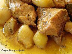 Αλμυρό μενού Πρωτοχρονιάς Pork, Food And Drink, Potatoes, Vegetables, Kale Stir Fry, Potato, Vegetable Recipes, Pork Chops, Veggies