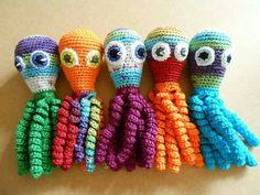 Deze 5 inktvisjes zijn gemaakt door Ankie Kars.