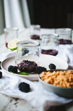 Blackberry, Lemon Verbena, and Lime Verrines