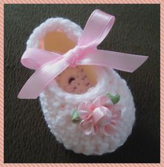 Crochet Handmade Baby Girl Booties- Pink -Any Occasion (newborn - 3 months) #Handmade #Booties