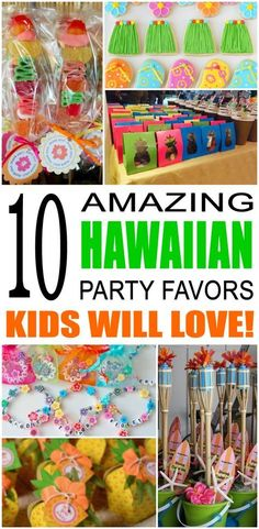 Fun hawaiian party favor ideas that kids and teens will love. Try these simple diy hawaiian and flip flop party favors for boys and girls. Here are some easy gift bags, treat bags, and more luau birthday ideas to say thank you to the friends of that special birthday child.