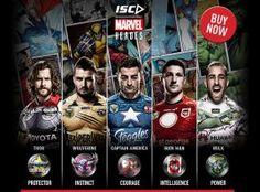 Marvel Super Heroes meet NRL Super Athletes