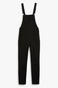 Monki Image 2 of Stretch dungarees  in Black