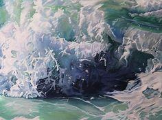 Mandy Lake, Refresh, oi on canvas, 2017 Lake Painting, Paintings, Sea, Canvas, Outdoor, Tela, Outdoors, Paint, Painting Art