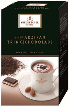 Niederegger Marzipan Hot Chocolate, 10 packets Chocolate and marzipan -  hot and drinkable...heaven!!!