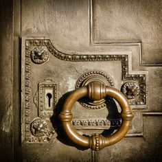 Antique Lock & Door Knocker at the Cliveden House, England. #oldthings                                                                                                                                                                                 More
