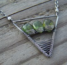 Green Tourmaline & Sterling Silver Necklace by wild soul studio, via Flickr
