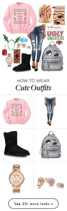 """mean girls inspiried"" by melody02craig on Polyvore featuring 7 For All Mankind, UGG Australia, Chiara Ferragni, Michael Kors, Casetify, GUESS, Essie, Charlotte Tilbury and Eos"